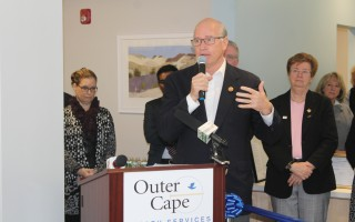 Congressman Bill Keating speaking at the opening of the Outer Cape Health Services health center in Harwich Port in 2018. FILE PHOTO  (photo: )