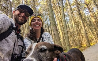 Andrew Davol, Jennie Porter and their dog T-Bone. COURTESY PHOTO   (photo: )