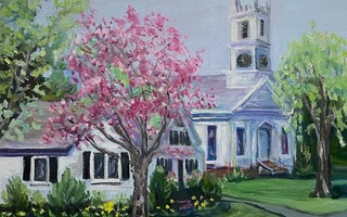"""Spring in Chatham"" is one of three oil paintings by Sue Daly that will be auctioned online to benefit the Chatham Coronavirus Impact Fund. COURTESY PHOTO  (photo: )"