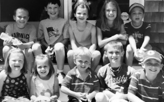 First row Sarah Babb, Lucy Mawn, Declan Russell, Liam Mawn, and Trevor Russell. Back row is Nyle Newton, Sean Gould, Bella Concordia, Emma Mawn and Noah Concordia, 2008. Sarah, Liam, Trevor, Nyle, Sean and Noah are all seniors this year. JEN GOULD PHOTO  (photo: )