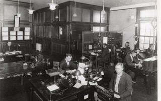 The interior of the operations center in October 1922.  COURTESY CMMC  (photo: )