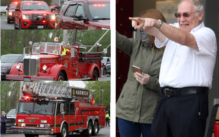 Outgoing Chatham Fire Chief Pete Connick was surprised with a retirement parade last week.  ALAN POLLOCK PHOTOS  (photo: Alan Pollock)