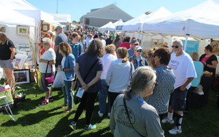 Large crowds making it difficult to assure social distancing was one of the reasons why the Harwich Cranberry Festival Committee made the decision to pull the plug on planned events for this year. FILE PHOTO 