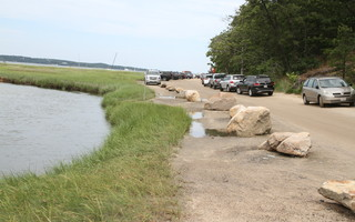 Strategically placed boulders are keeping vehicles away from one portion of the marsh at Jackknife Harbor. ALAN POLLOCK PHOTO  (photo: Alan Pollock)