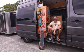 Scott Gerke, a YouTuber from Key West, Fla., made a stop on Cape Cod while traveling around the country while living in his van for his Once a Stranger project and to raise awareness about mental health issues. Kat Szmit Photo  (photo: )