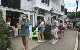 Occupancy limitations equal long lines at some downtown Chatham shops. TIM WOOD PHOTO  (photo: )