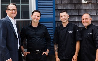 The new Pate's team. From left, Chris Matheson, restaurant manager;  Jamie Edwards, bar manager; Bernie Maceo, chef; Anthony Silvestri, executive chef/owner. COURTESY PHOTO  (photo: )