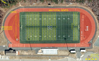 Town Engineer Griffin Ryder designed this schematic layout for the annual town meeting to be held at the stadium field at Monomoy Regional High School on Saturday, Sept. 26 at 10 a.m.  COURTESY TOWN OF HARWICH  (photo: ddelaney)