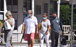 Downtown Chatham took on a new look this summer after the board of health mandated that masks be worn from 9 a.m. to 10 p.m. TIM WOOD PHOTO 