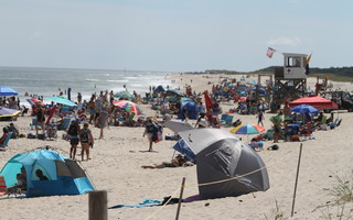 Locals know that the best beach weather is often in September, without crowds like these that happen on peak summer beach days. FILE PHOTO  (photo: Alan Pollock)