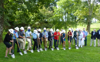 Ground is broken Tuesday for Orleans' new downtown sewer system. ED MARONEY PHOTO   (photo: )