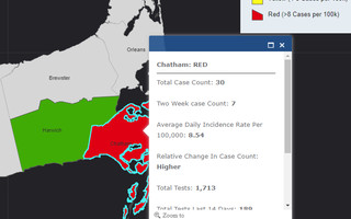 From the state's COVID-19 community level data map.  MASS.GOV  (photo: )