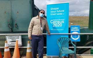 A U.S. Census worker set up shop at the transfer station last weekend to answer questions and help people respond to the census. COURTESY PHOTO  (photo: )