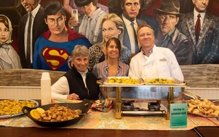 The Chatham Orpheum Theater in less socially distanced days, celebrating the popular Hungry Traveler Food and Wine Series. From left to right are Carol Yindra, Tracie Yindra and Chatham Orpheum Theater Executive Director Kevin McLain.  COURTESY PHOTO  (photo: )