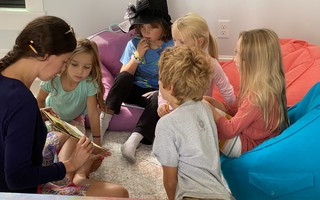Teacher Julia Messersmith works with homeschoolers Rosie Wittenstein, Nolan Wittenstein, Stanley Swain, Siena Young, and Ada Young. The three families opted for home schooling for both safety reasons and after learning that remote learning wasn't a good fit. COURTESY PHOTO   (photo: )