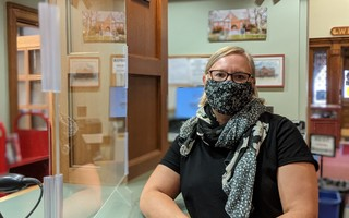 Eldredge Public Library Director Amy Andreasson said that while she and her staff are eager to reconnect with patrons, next week's reopening will be on a limited basis. ALAN POLLOCK PHOTO 