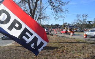 Shops and restaurants in West Chatham are open, but owners say the West Chatham Roadway Project construction, combined with the pandemic, is killing their business. TIM WOOD PHOTO  (photo: )