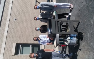 Culinary arts students with the school's outdoor grill. COURTESY PHOTO  (photo: )