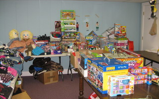 Toys and bikes await Adopt a Family clients. COURTESY PHOTO  (photo: )