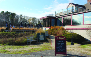 Patrons were still enjoying outside dining on Sunday afternoon at Brax restaurant. WILLIAM F. GALVIN PHOTO  (photo: William F. Galvin)