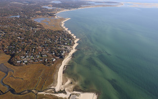 Chatham's Nantucket Sound coast, looking east from Red River Beach in Harwich. The town is examining ways to stabilize the shifting shoreline. SPENCER KENNARD PHOTO  (photo: )