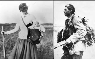 Left: Agatha Florence (Shackley) Higgins & Frederick L. Higgins in gunny sack age 4 months. September 1912. Right: Frederick Seaver Higgins- winter 1917. Orleans. PHOTOS COURTESY OF KEVIN HIGGINS  (photo: )