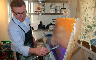 Artist Steve Lyons works in his Chatham gallery. FILE PHOTO  (photo: )