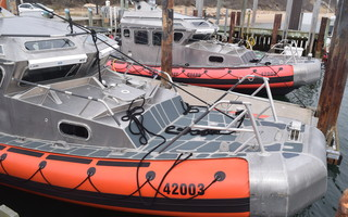 The Chatham Coast Guard Station's two 42-foot near-shore lifeboats docked at the fish pier. FILE PHOTO  (photo: )