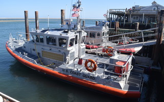 This 45-foot Coast Guard response boat docked at the fish pier replaced one of Station Chatham's three 42-foot surf boats. One of the remaining surf boats is docked next to the newly arrived vessel. TIM WOOD PHOTO  (photo: )
