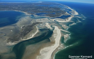 All three of the inlets in Chatham's outer beach are visible in this aerial photo taken May 10. SPENCER KENNARD PHOTO  (photo: )
