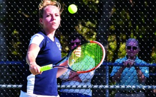 Monomoy's first singles player Carly Donovan cruised to a win in the MIAA Div. 3 South quarterfinals on Monday, ending her 2016 season undefeated, though the Sharks fell overall to Cohasset. 