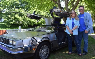 Terry and Oliver Holler with their 1982 DeLorean