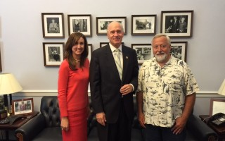 Rep. William Keating with Town Manager Jill Goldsmith, left, and Selectman Seth Taylor at Keating's Washington, D.C. office last week. COURTESY PHOTO   (photo: )