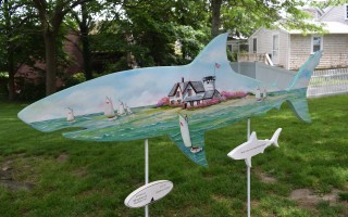 Minglewood Homes' shark in the park. TIM WOOD PHOTO  (photo: )