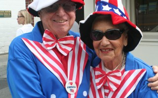 Irwin and Helen Sitkin in their July 4 regalia.  FILE PHOTO  (photo: )