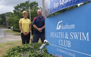 Carol Penfield, left, former owner of the Chatham Health and Swim Club, and new owner Jason Nye. TIM WOOD PHOTO  (photo: )