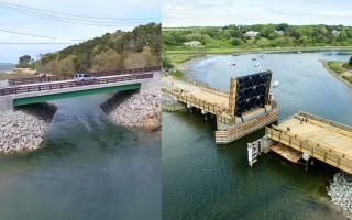 The Muddy Creek Bridge (left, Christopher Seufert photo) and the Mitchell River Drawbridge (right, Carl Jacobs photo).  (photo: )