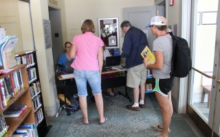 Brooks Free Library was closed Friday and was expected to open Saturday with limited service in the lobby. FILE PHOTO  (photo: William F. Galvin)