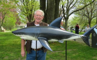 One of Harwich artist Rick Benson's sharks. COURTESY PHOTO  (photo: )