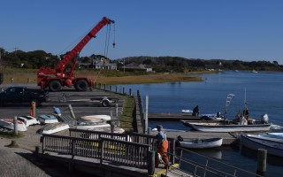 BTT Marine Construction Co. is replacing the bulkhead at Old Mill Boatyard. TIM WOOD PHOTO  (photo: )