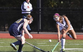 Monomoy's Emma Mawn (4) works to push the ball back into Shark possession during game play on Sunday against Foxboro. Kat Szmit Photo  (photo: Kat Szmit)