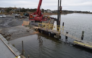 The boat ramp at Old Mill Boatyard, in the foreground, will be closed Monday through Friday due to ongoing construction at the facility. The ramp will be open on weekends. TIM WOOD PHOTO  (photo: )