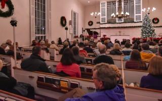 Volunteers are needed to staff First Night venues, such as the First Congregational Church, shown here, as well as numerous other sites. FILE PHOTO 