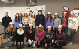 Ms. Flint's anatomy and physiology classes took part in Wernicke Wednesday last week. Students spent the day sharing brain facts with faculty members throughout the school while wearing their very stylish