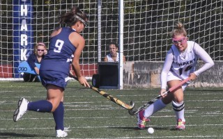 Monomoy senior Marina Small was an integral player for the Sharks, and is looking forward to continuing her field hockey career at Westfield State University in the fall. Kat Szmit Photo 