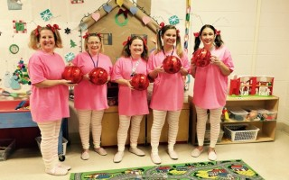 "Ms. Rose and her room 10 team at Harwich Elementary School were among many who participated in the recent ""Dress Like A Friend"" day. COURTESY PHOTO  (photo: )"