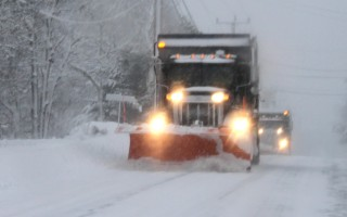 A snow plow clears area roads.  FILE PHOTO  (photo: Alan Pollock)