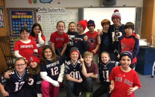 Chatham Elementary School fourth graders showed their Patriot's spirit last Friday. 