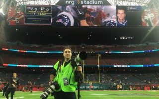 Eric Adler savors a moment on the field at NRG Stadium prior to Super Bowl LI in Houston. PHOTO COURTESY OF ERIC ADLER  (photo: )