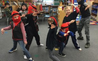 "Chatham Elementary kindergarten students recently finished reading ""The Night of the Ninjas."" They learned much about Japanese culture and have turned the loft in their classroom into Japan, with Mount Fuji and a place for tea ceremonies.  (photo: )"